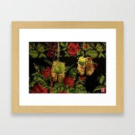 Russian Slippers Framed Art Print