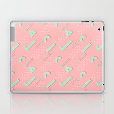 Abstract blush coral turquoise geometric 80's pattern Laptop & iPad Skin