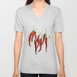 red chili pepper Unisex V-Neck