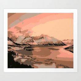 Beautiful Mountains Nature Landscape Art Print