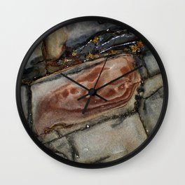 Rock Formation by the Ocean Wall Clock