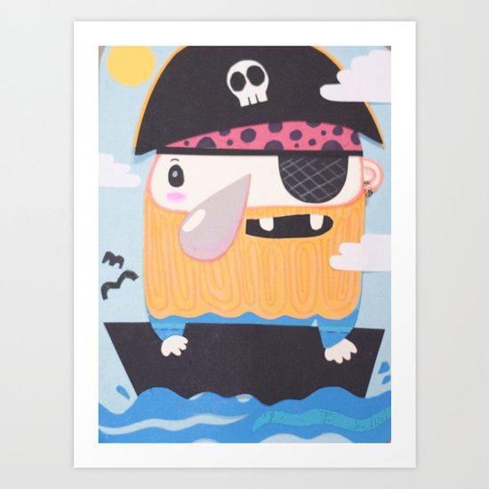 Pirate Pete Art Print