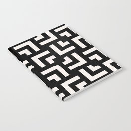 Bold geometric pattern - Stripe Tile Notebook