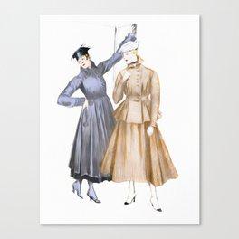 Vintage Walking Suits Canvas Print