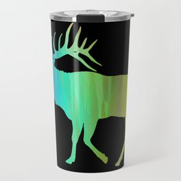 Rainbow Watercolor Dripping Elk II Travel Mug
