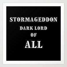 Doctor Who Stormageddon Dark Lord of All Art Print