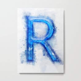 R Letter Metal Print