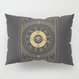 La Roue de Fortune or Wheel of Fortune Tarot Pillow Sham