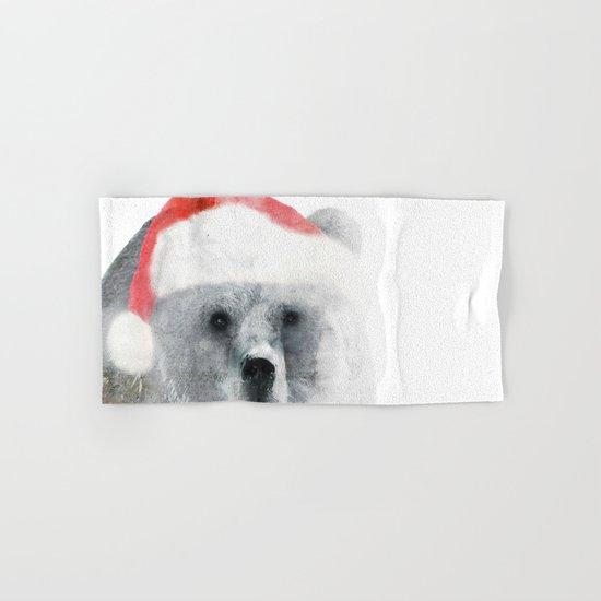 Christmas Teddy Bear Hand & Bath Towel