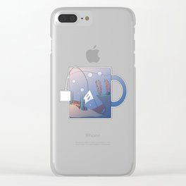 Tea Time Submerge Cup 2 Clear iPhone Case