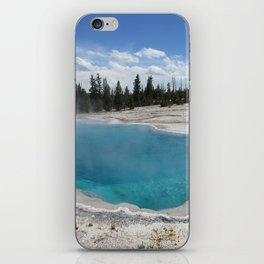 Beautiful Blue Pool at Yellowstone National Park Hot Tub iPhone Skin
