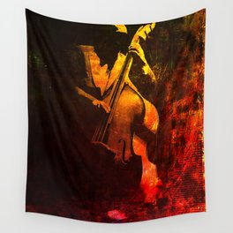 The Color of Music - Double Bass Wall Tapestry