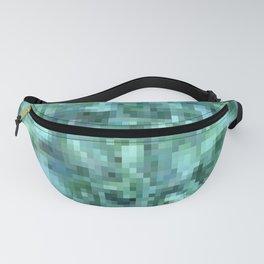 Green Ocean Pixelate Fanny Pack