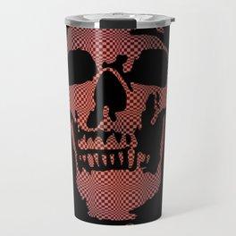 Red Optical Skull Travel Mug