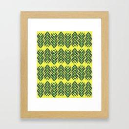 Green feathers Framed Art Print