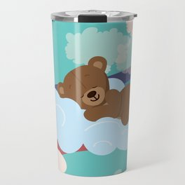 Teddy Bear and clouds Travel Mug