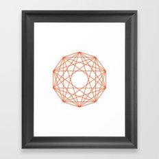 Decagon Framed Art Print