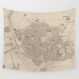 Vintage Map of Rennes France (1829) Wall Tapestry