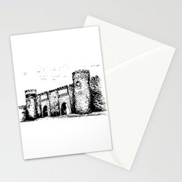 Old Tower Gate Ink Art Stationery Cards