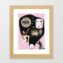 Mad about the IQ Framed Art Print