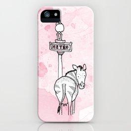 Le beau zèbre iPhone Case