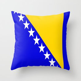 Bosnia and Herzegovina country flag Throw Pillow