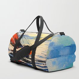 Yacht in the wind Duffle Bag