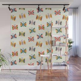 Retro Butterflies Pattern Wall Mural