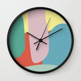 Color pebble abstract Wall Clock