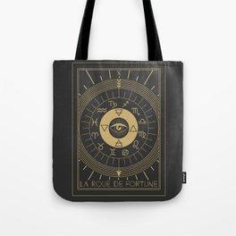 La Roue de Fortune or Wheel of Fortune Tarot Tote Bag