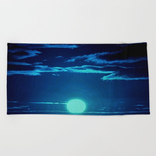 Moon rise Beach Towel