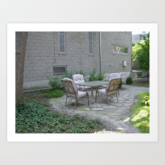 Lets Go Sit Out in The Patio Art Print