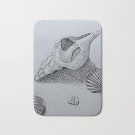 Sea Shell Pencil Drawing2 Bath Mat