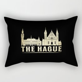 The Hague City Cityscape Skyline Trip Funny Gift Rectangular Pillow