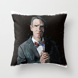"""The Science Guy"" Digital, 2018. Original Digital Watercolor Painting, Bill Nye Throw Pillow"