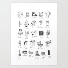 abecedario abc Art Print