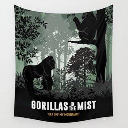 Gorillas in the Mist - Alternative Movie Poster Wall Tapestry