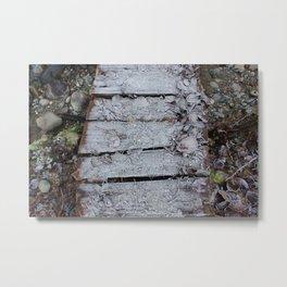 Winter Frosty Bridge Metal Print