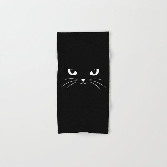 Cute Black Cat Hand & Bath Towel