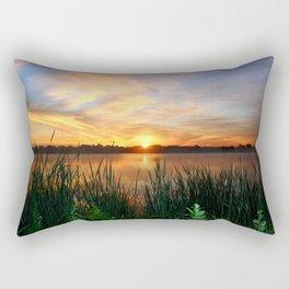 Sunrise At the Lake Rectangular Pillow