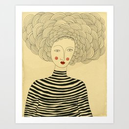 French Stripes Art Print