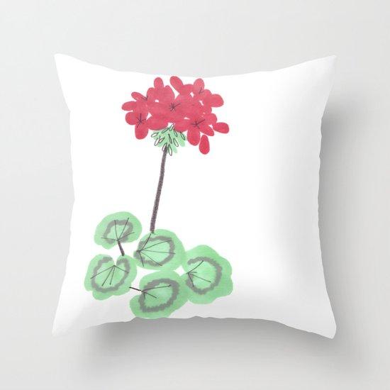 Wembley Gem Red Flower Throw Pillow