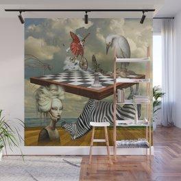 Zebra Upside Down Wall Mural