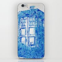 tardis iPhone & iPod Skins featuring TARDIS by Redeemed Ink by - Kagan Masters