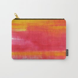 'Summer Day'  Orange Red Yellow Abstract Art Carry-All Pouch