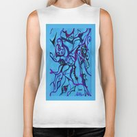carousel Biker Tanks featuring Carousel by Art by Mel