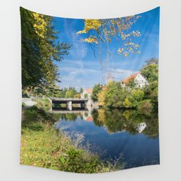 Danube reflection Wall Tapestry