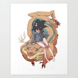 No MORE LOVE Art Print