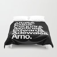 assassins creed Duvet Covers featuring Creed by Outside In
