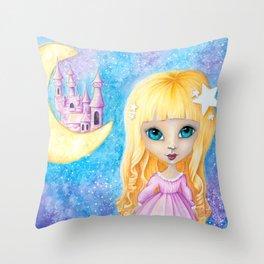 Castle Dreams Girl Throw Pillow